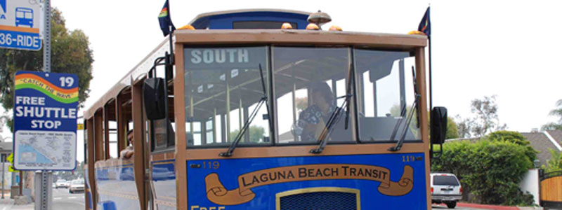 Free Shuttles in Laguna Beach back to save the day!