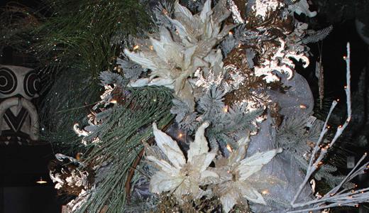 Black Iris tree ornaments