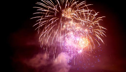 4th of July fireworks show Laguna Beach