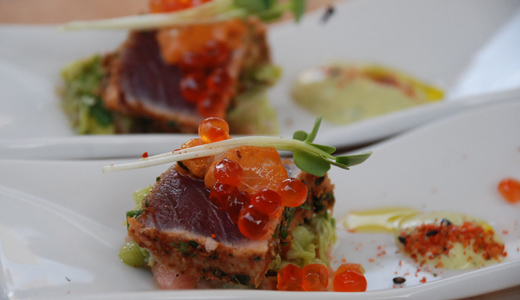 Chef Rainer Schwarz - Tuna for Newport Beach Wine and Food Festival