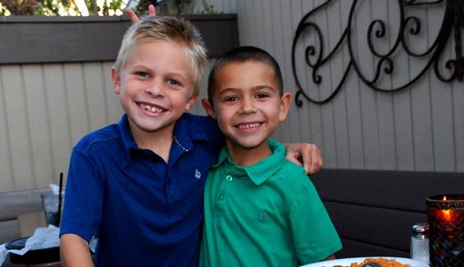 The next generation? Benson (8) and little brother Braden (6) Avila
