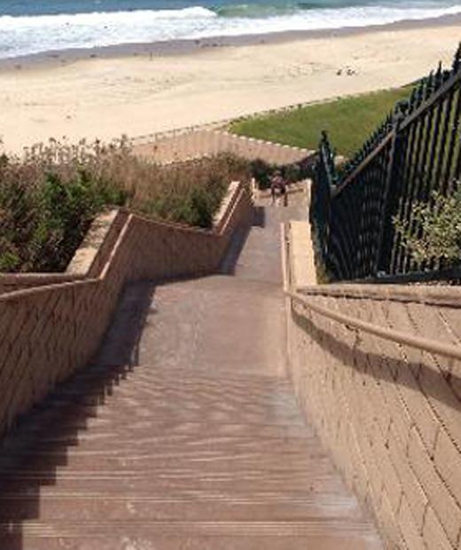 Upper Strands Beach stairs