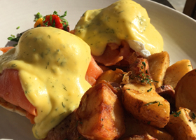 Ranch-Smoked-Salmon-Eggs-Benedict-Laguna Beach