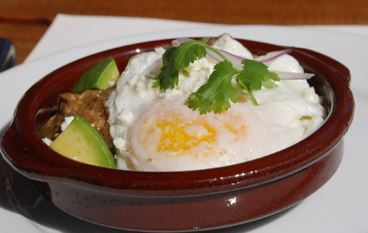 chile verde egg dish - Sapphire Restaurant