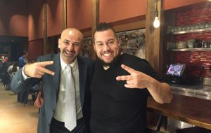 Ahmed Labatte and Chef Amar Santana