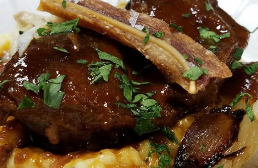 polenta and rib - Newport Beach Restaurant Week