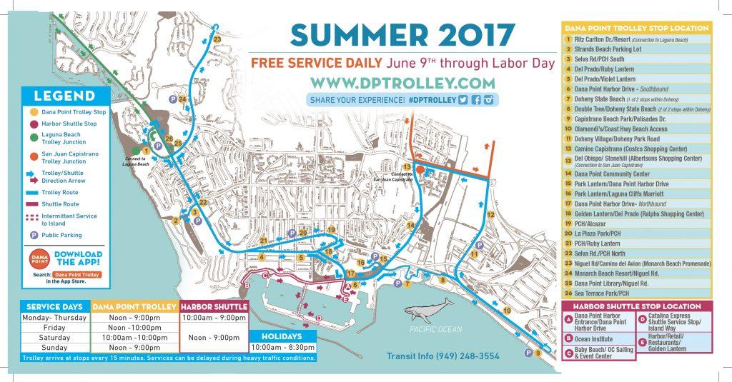 Dana Point Trolley Map 2017