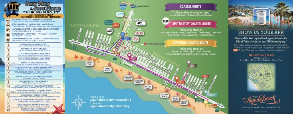 Laguna Beach Trolley Map 2017