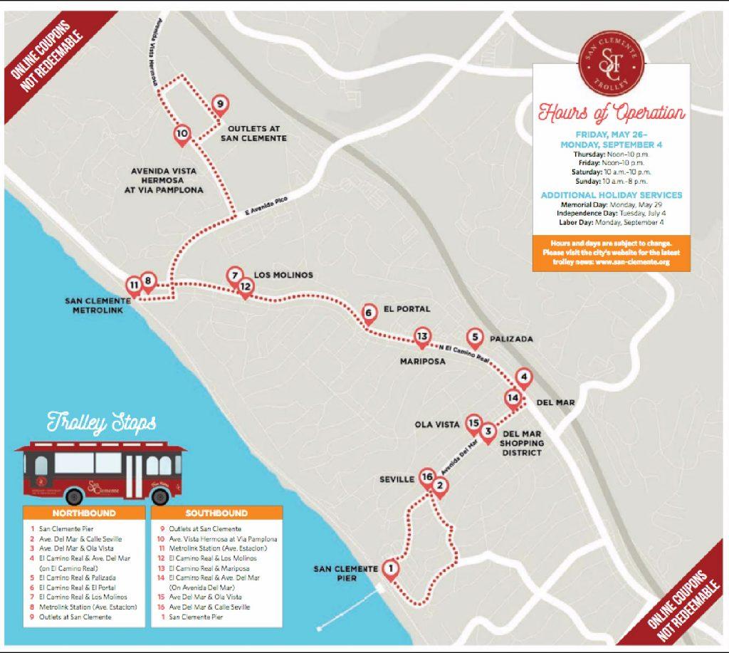 San Clemente Trolley Map 2017