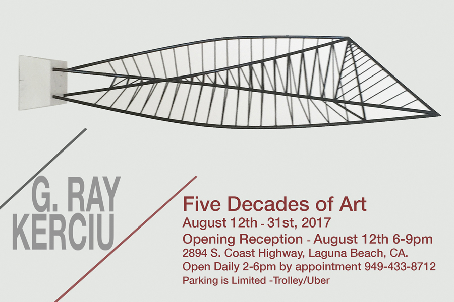 Nationally Renowned Artist G. Ray Kerciu Hosts Reception Aug 12th