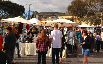 Sunday, Jan 28th, re-introduces Laguna Craft Guild art show at Main Beach