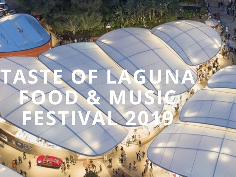 Taste of Laguna for Thurs, Oct 3rd, 2019 – Tix Now on Sale