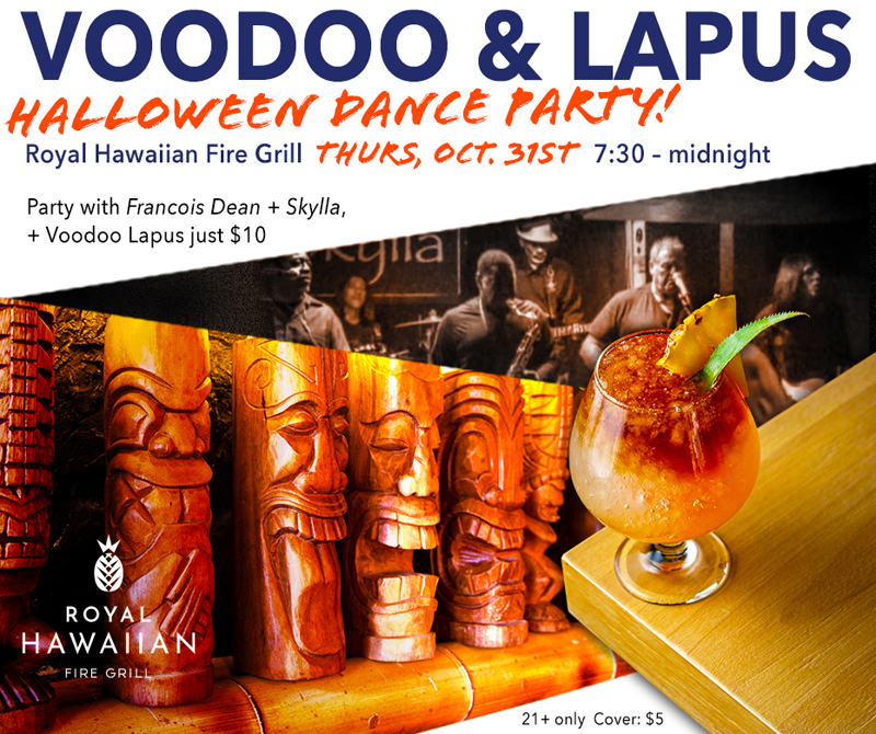 "Royal Hawaiian Hosts Oct 31st ""Voodoo & Lapus"" Party"